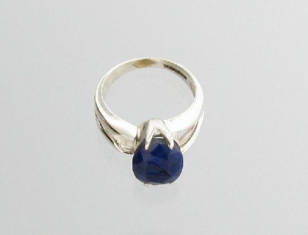 APP: 1k Sebastian 4CT Sapphire & Sterling Silver Ring