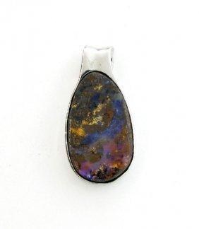 APP: 5k 67.35CT Boulder Opal & Sterling Silver Pendant