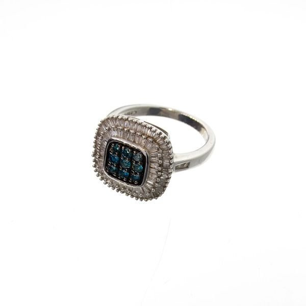 APP: 6k 0CT Diamond & Plat Overlaid Sterl Silver Ring