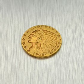 1909 $5 U.S. Indian Head Gold Coin - Investment