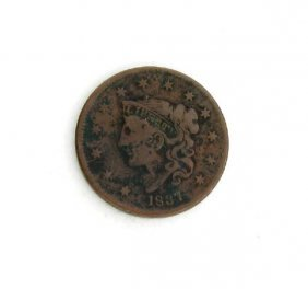 1837 Liberty Head Type One Cent Coin - Investment