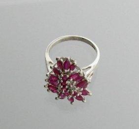 APP: 3k 2.12CT Ruby & Sterling Silver Ring