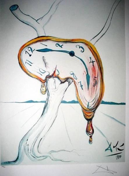 SALVADOR DALI Tearful Soft Watch Print, Limited Edition