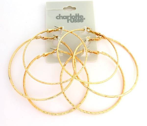 Charlotte Russe Jewelry 3 Different Large Earrings Set