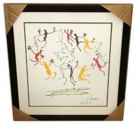 Pablo Picasso 'Le Ronde' Museum Framed & Matted Print