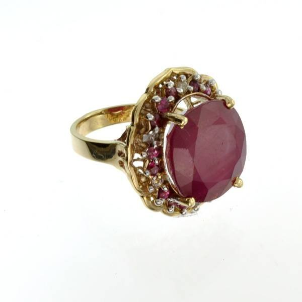 APP: 15k 14kt Yellow/White Gold, 16CT Ruby/Diamond Ring