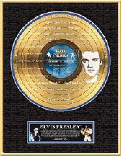 "ELVIS PRESLEY ""The Number One Hits"" Etched Gold LP"