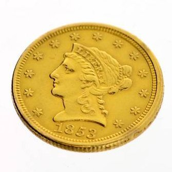 1853 U.S. $2.5 Liberty Head Gold Coin - Investment
