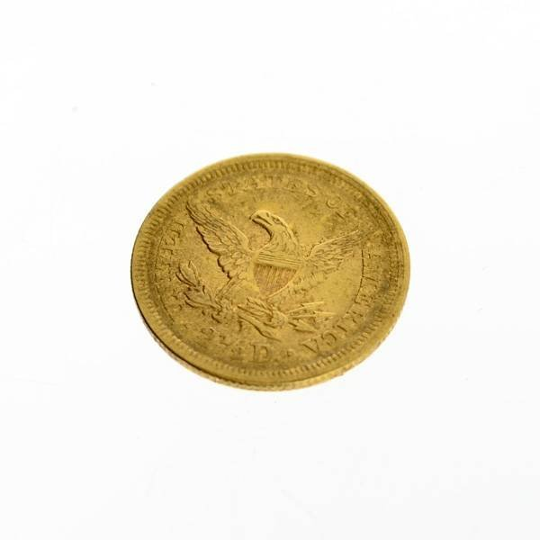 1853 U.S. $2.5 Liberty Head Gold Coin - Investment - 2