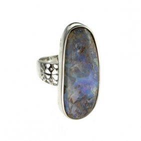 APP: 10.1k 5.64CT Boulder Opal & Sterling Silver