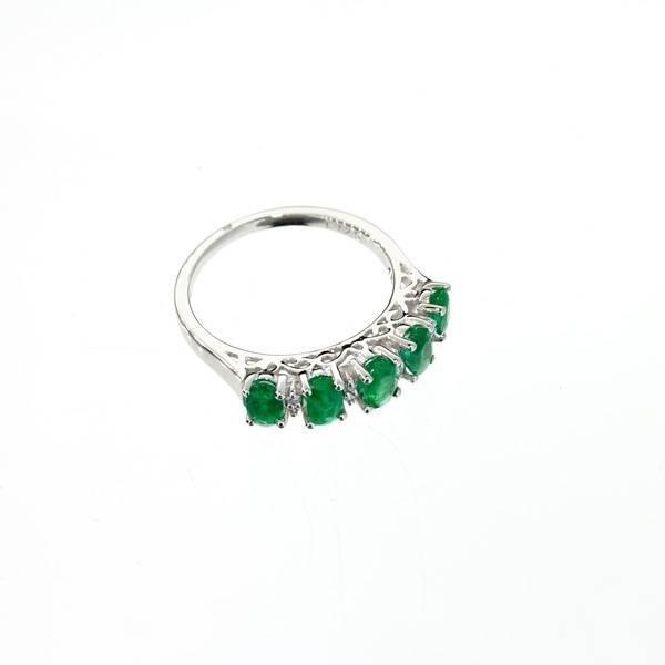 APP: 3k 14kt White Gold, 1CT Emerald & Diamond Ring
