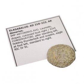 218-222 AD Elagabalus AR denarius Ancient Coin