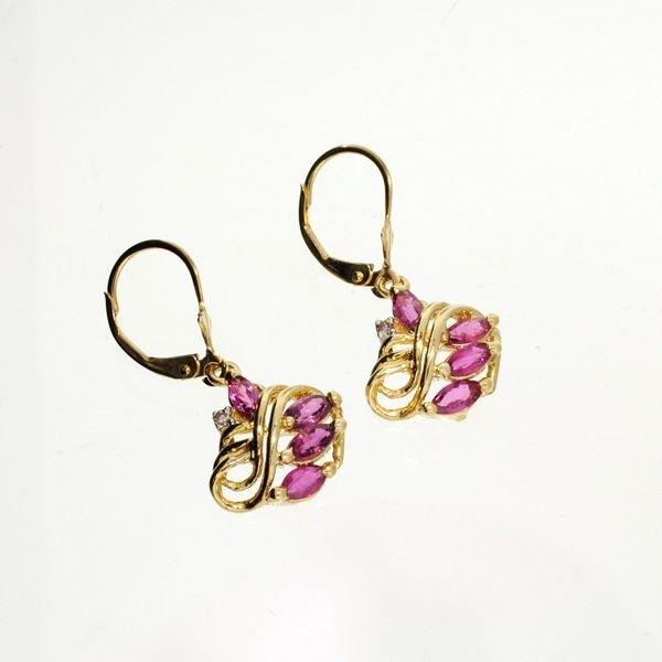 14 kt. Gold, Pink Topaz Set