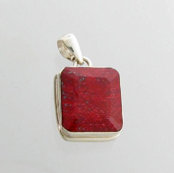 APP: 10.2k 27.59CT Ruby & Sterling Silver Pendant