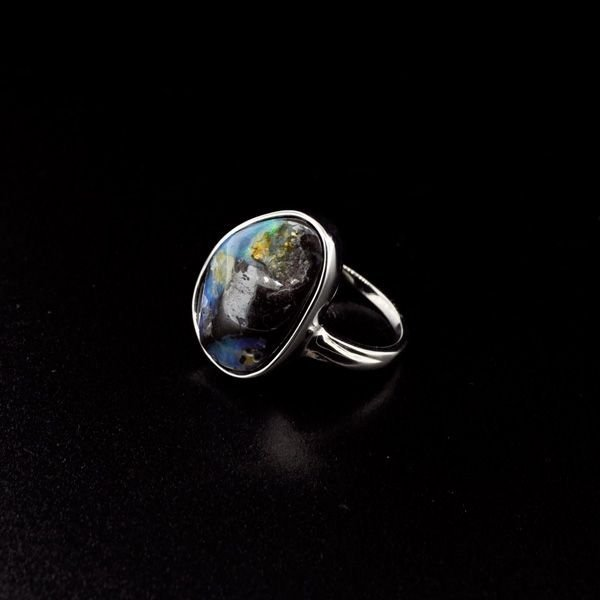 APP: 6.7k 20.37CT Boulder Opal & Sterling Silver Ring
