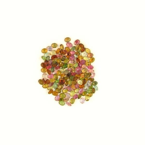 APP: 3k 22CTOval Cut, Multi-Colored Tourmaline Parcel