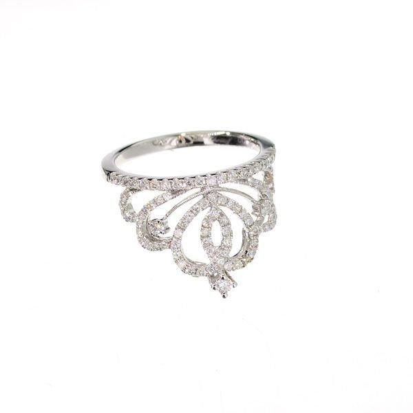 APP: 3k 14kt White Gold, 0.55CT Round Cut Diamond Ring