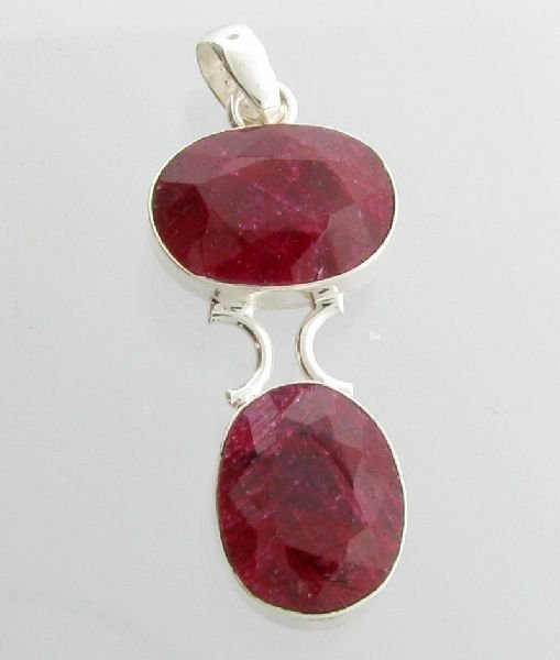 APP: 11.8k 31.84CT Ruby & Sterling Silver Pendant