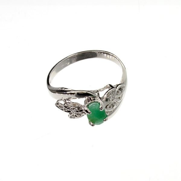 APP: 1.1k 0.48CT Emerald & Sterling Silver Ring