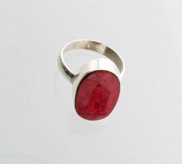 APP: 2.7k 13.43CT Ruby & Sterling Silver Ring