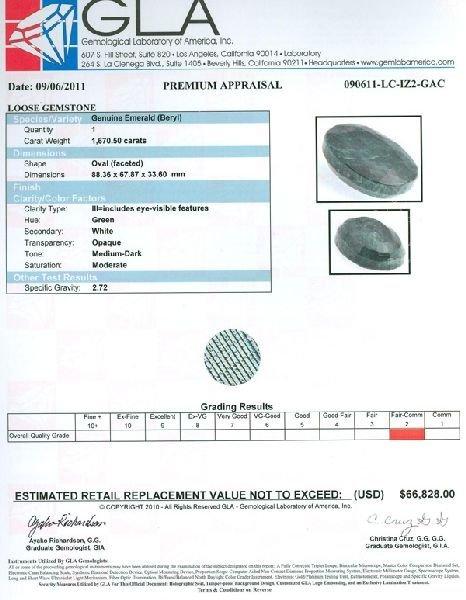 APP: 66.8k 1,670.50CT Emerald Gemstone - 3