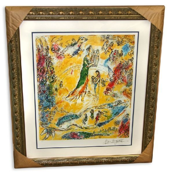 Marc Chagall 'Sorcerer of Music' Museum Framed & Matted