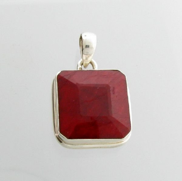 APP: 10.7k 28.72CT Ruby & Sterling Silver Pendant