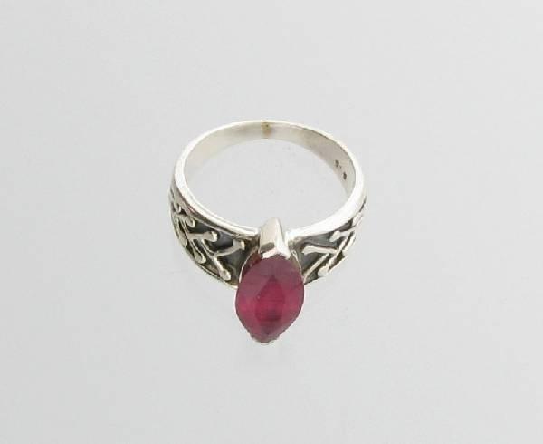 APP: 3.5k Sebastian 3.25CT Ruby & Sterling Silver Ring