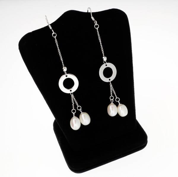 Pearl & Sterling Silver Earrings