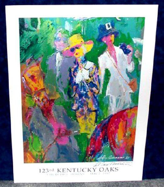 Hand Signed LeRoy Neiman: 123rd Kentucky Oaks
