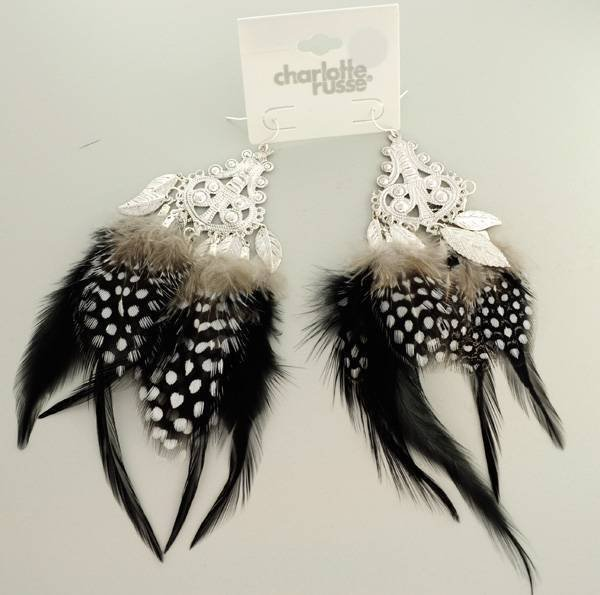 Charlotte Russe Jewelry - 1 Pair Feather Earrings