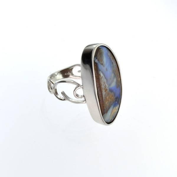 APP: 9.3k 22.55CT Boulder Opal & Sterling Silver Ring
