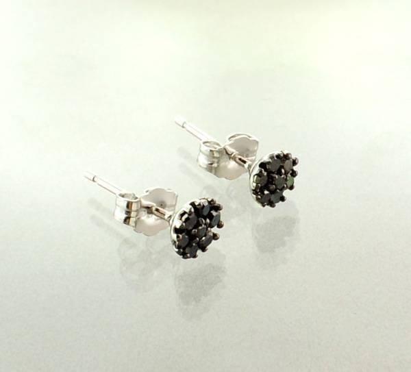 APP: 0.5k 0.20CT Diamond & Sterling Silver Earrings