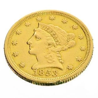 1853 U. S. $2.5 Liberty Head Gold Coin - Investment