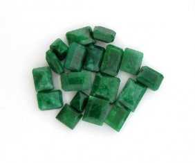 APP: 13.8k 100.95CT Rectangular Cut Emerald Parcel