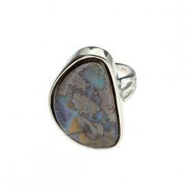 APP: 12.1k 5.77CT Boulder Opal & Sterling Silver Ring