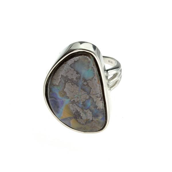 APP: 12.1k 5.77CT Boulder Opal & Sterling Silver Ring