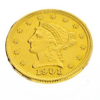 1901 U. S $2.5 Liberty Head Gold Coin - Investment