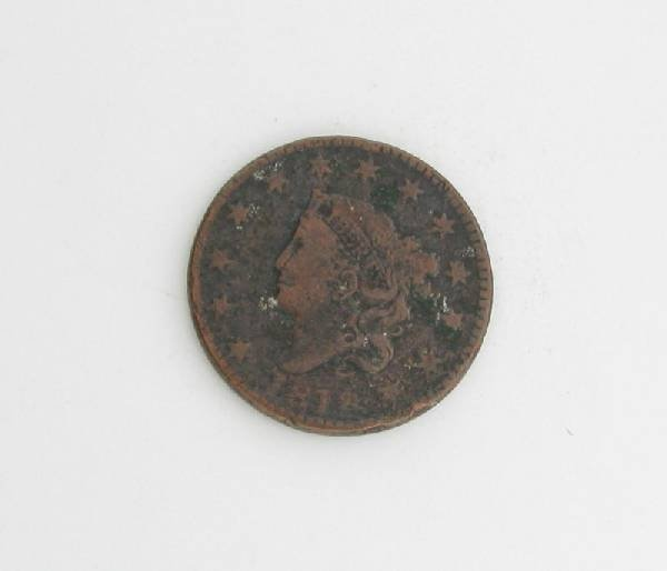 1818 Liberty Head Type One Cent Coin - Investment