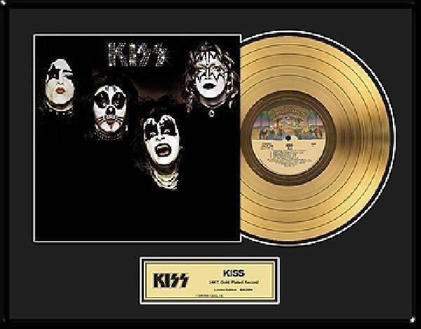 """KISS """"KISS"""" Gold LP"""