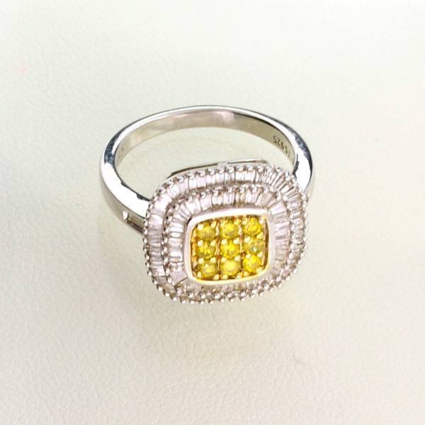 APP: 3k 1CT Diamond & Plat Overlaid Sterl Silver Ring
