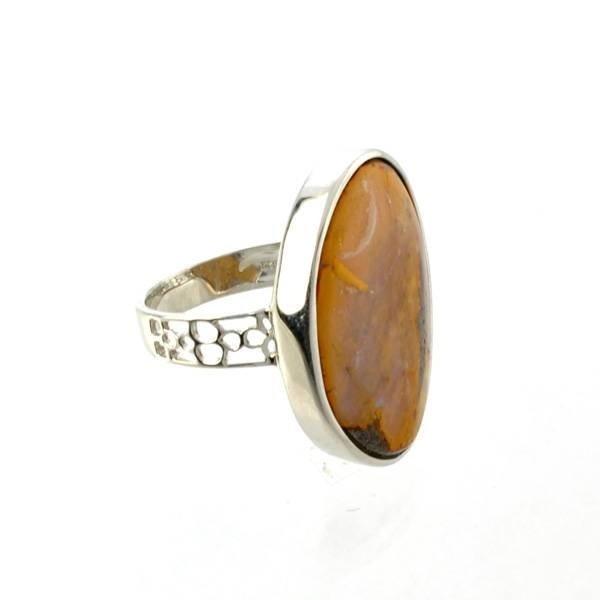 APP: 9.3k 3.57CT Boulder Opal & Sterling Silver Ring