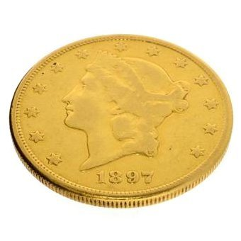 1897-S $20 U.S. Liberty Head Gold Coin - Investment