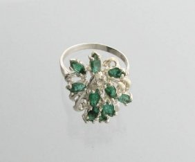 APP: 5.9k 2.59CT Emerald & Sterling Silver Ring