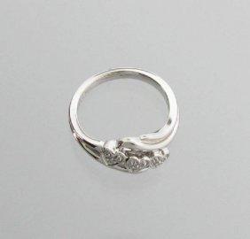 APP: 0k 0CT Diamond & Platinum Sterling Silver Ring