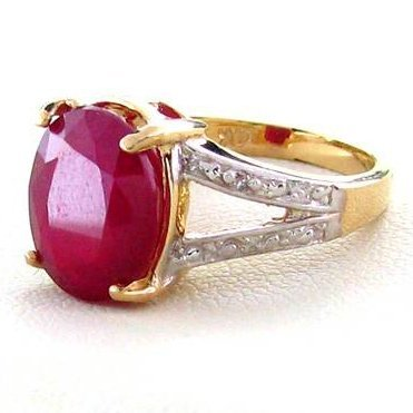 APP: 7.7k 14 kt. Gold, 6.33CT Ruby Ring
