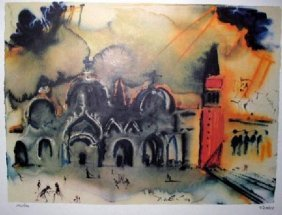 SALVADOR DALI Venice Reconstruction Print, Limited Edn