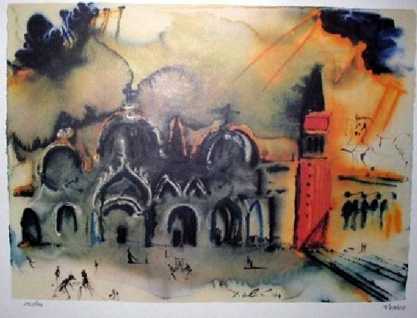 SALVADOR DALI Venice Reconstruction Print, Limited Edn