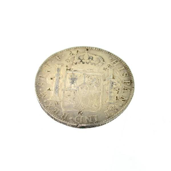 1780 Eight Reales First Silver Dollar Coin - Investment - 2