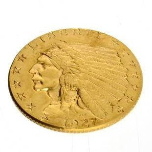 1927 $2.5 U.S. Indian Head Gold Coin - Investment